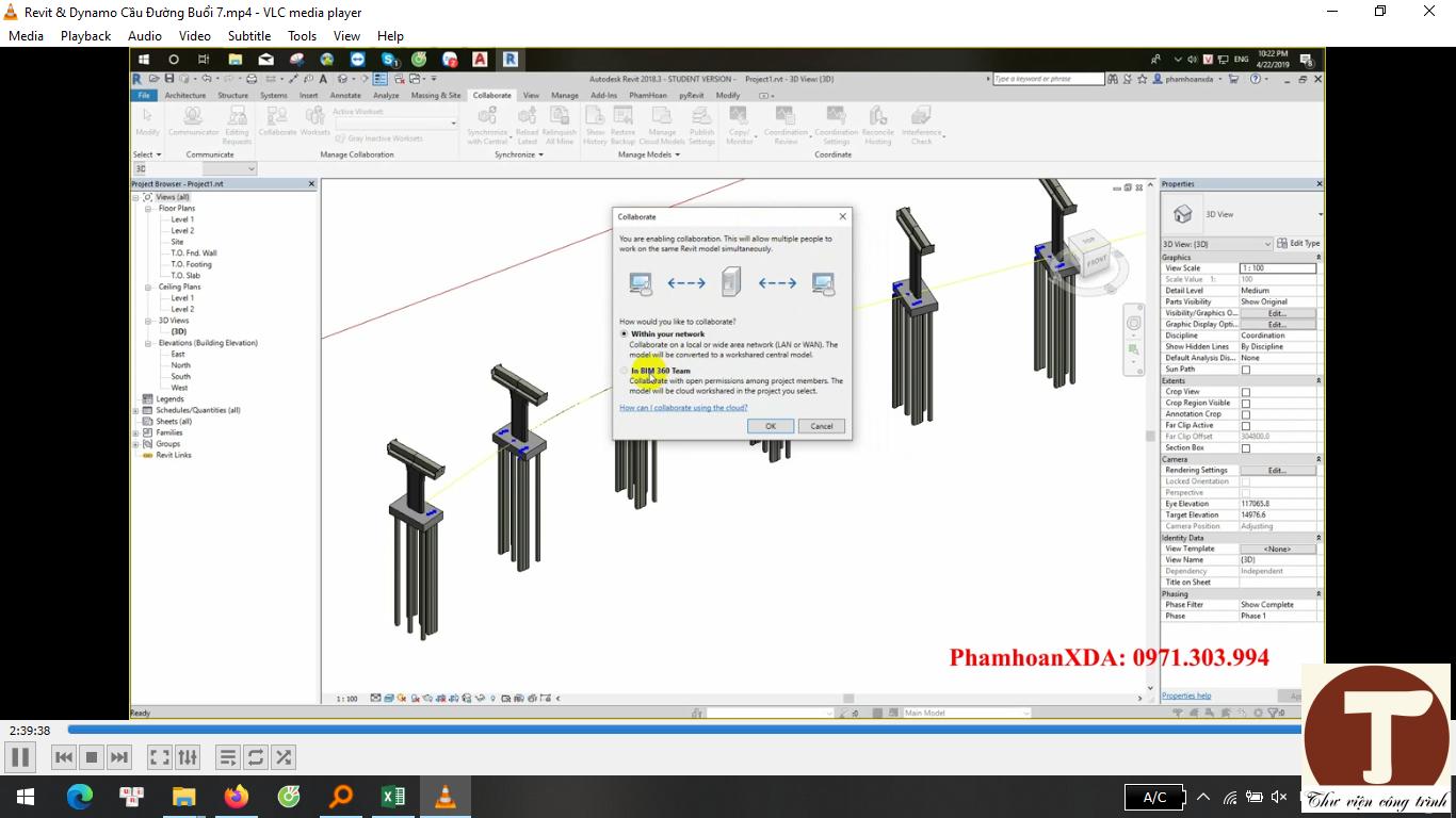 Sử dụng dynamo bố trí bộ phận công trình cầu 2
