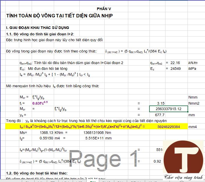 Kiếm toán dầm theo các TTGH 3