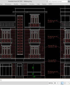 Bản vẽ nhà dân 3 tầng + 1 tum 5,04x11,15m